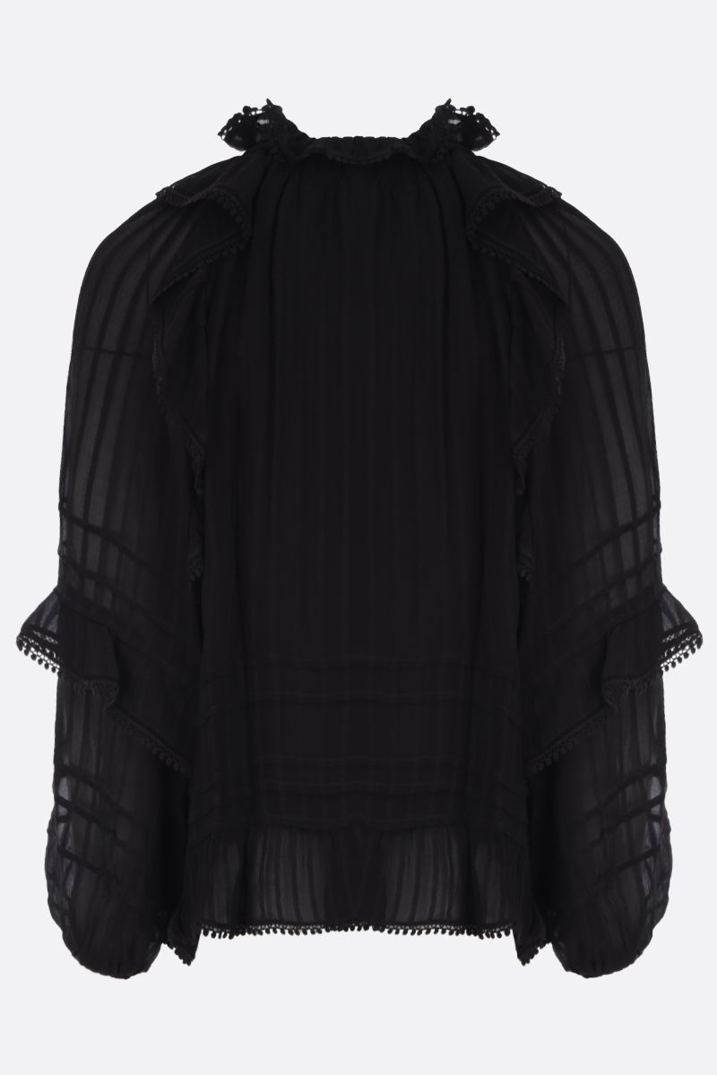 ISABEL MARANT ETOILE: blusa Jayden in crepe Colore Nero_2
