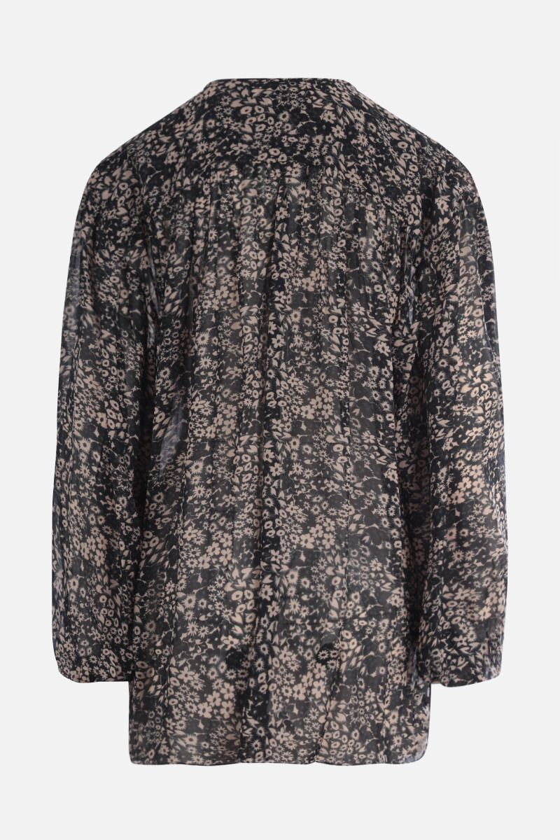 ISABEL MARANT ETOILE: Liliana georgette oversize blouse Color Black_2