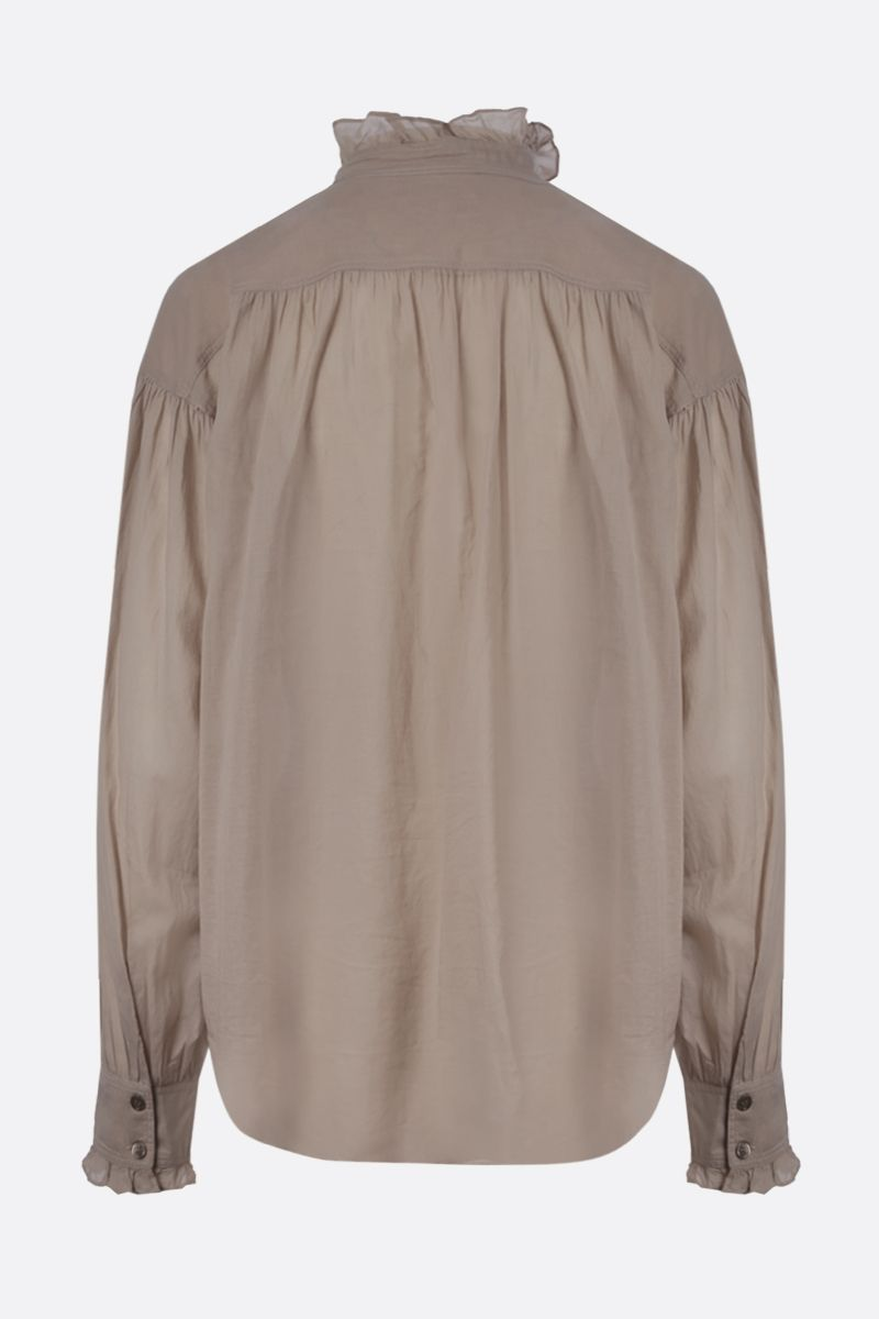 ISABEL MARANT ETOILE: Pamias cotton blouse Color Neutral_2