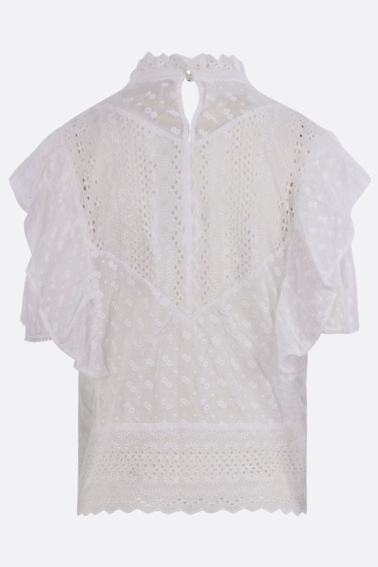 ISABEL MARANT ETOILE: Tizaina cotton blouse Color White_2