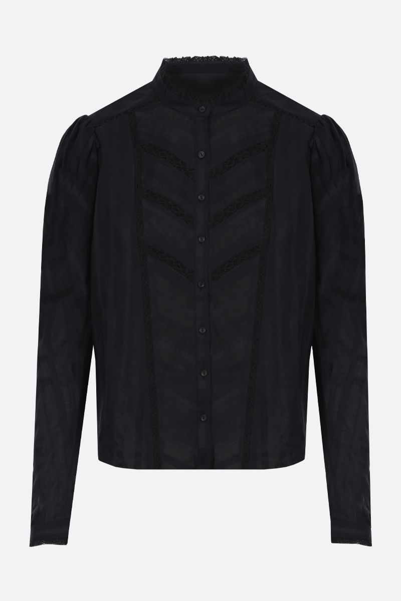 ISABEL MARANT ETOILE: Reafi cotton shirt Color Black_1