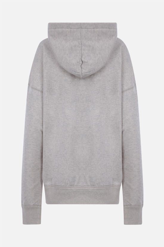 ISABEL MARANT ETOILE: Mansel cotton blend hoodie Color Neutral_2