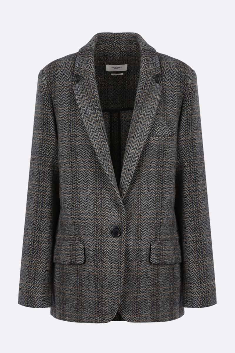 ISABEL MARANT ETOILE: Charly single-breasted wool jacket Color Neutral_1