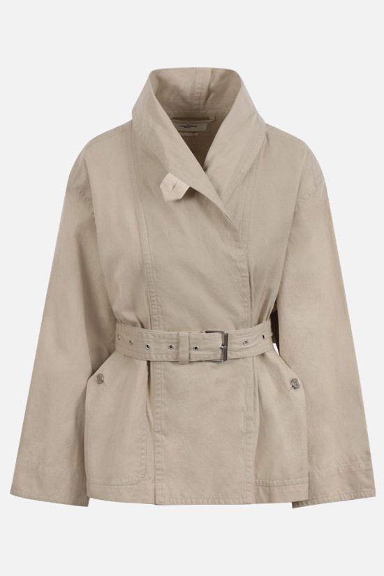 ISABEL MARANT ETOILE: Prunille cotton linen blend jacket Color Neutral_1