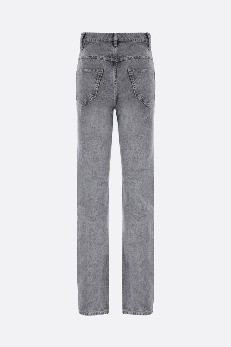 ISABEL MARANT ETOILE: jeans straight-fit Hominy Colore Grigio_2