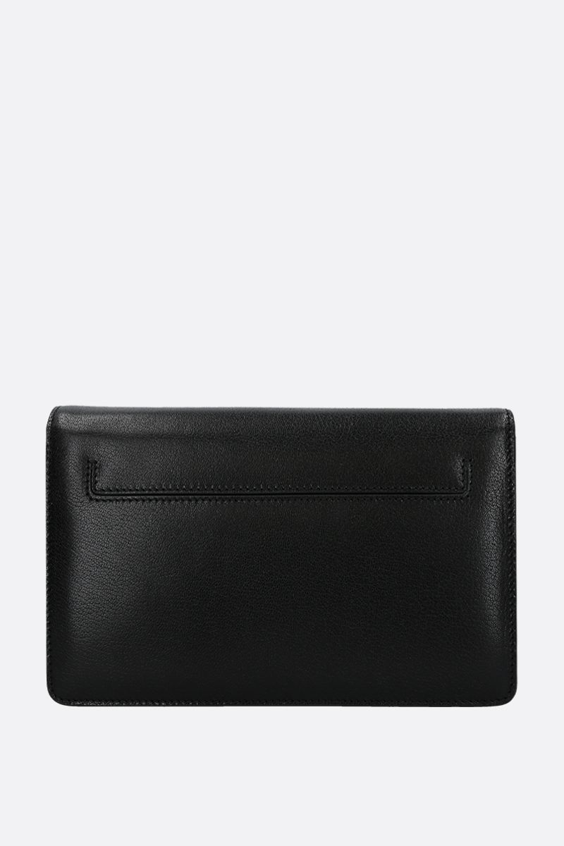 TOM FORD: borsa a spalla 001 media in pelle martellata Colore Nero_2