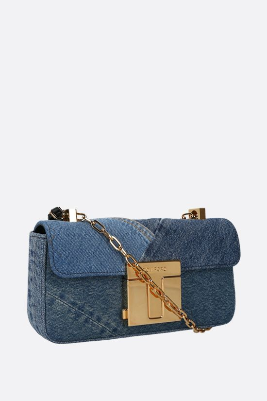 TOM FORD: borsa a tracolla 001 media in denim_2