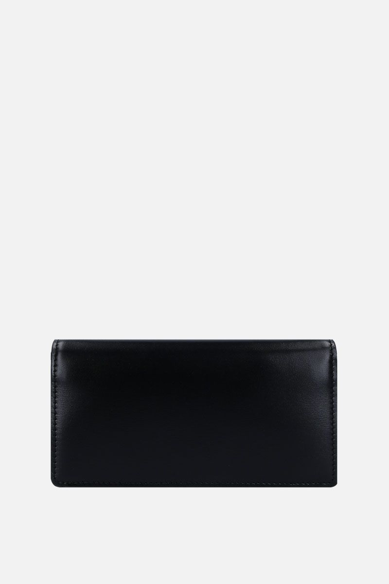 TOM FORD: smooth leather crossbody bag with TF detail Color Black_2