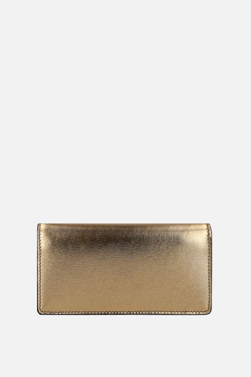 TOM FORD: laminated leather crossbody bag with TF detail Color Gold_2