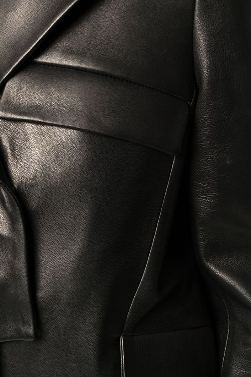 TOM FORD: leather biker jacket Color Black_2
