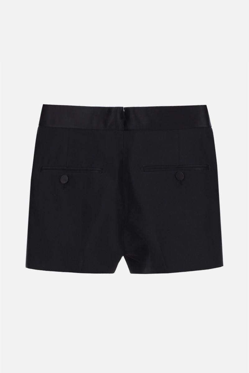 TOM FORD: wool silk blend tuxed shorts Color Black_3