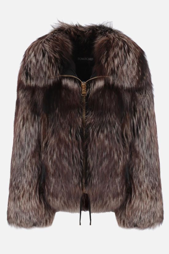 TOM FORD: fox fur short jacket Color Brown_1
