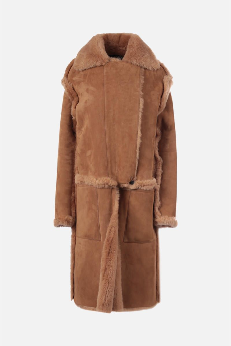 TOM FORD: cappotto in shearling Colore Neutro_1