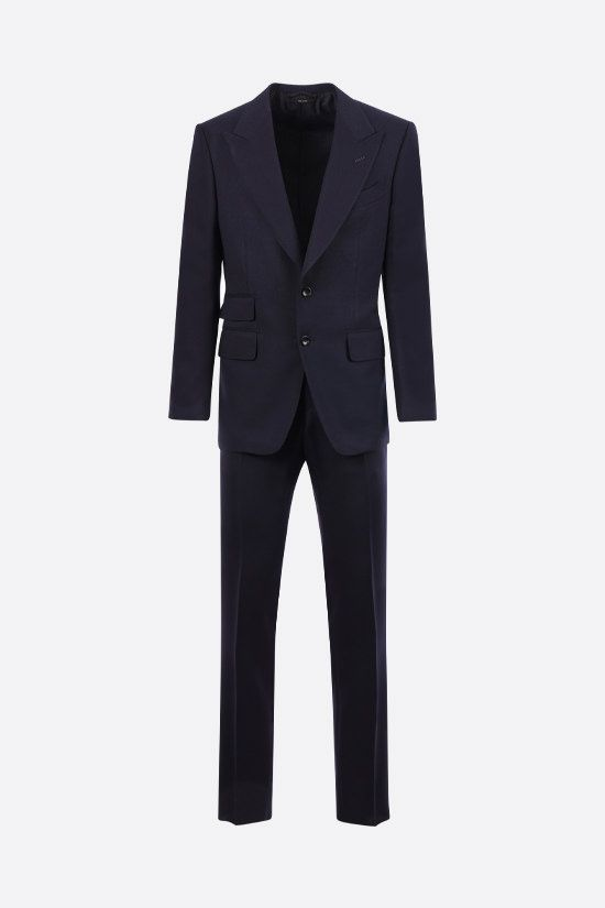 TOM FORD: wool mohair blend two-pieces suit Color Blue_1