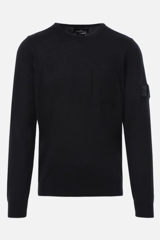 STONE ISLAND SHADOW PROJECT: wool silk knit pullover Color Black_1