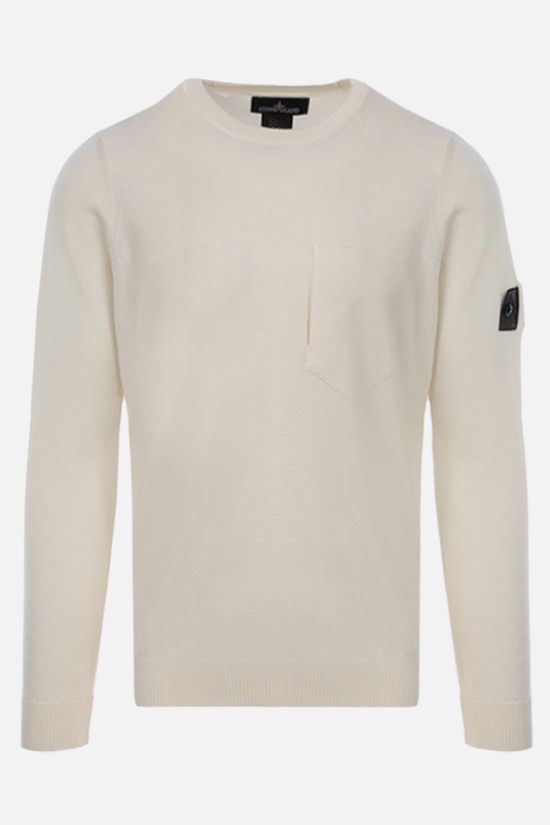 STONE ISLAND SHADOW PROJECT: wool silk knit pullover Color White_1