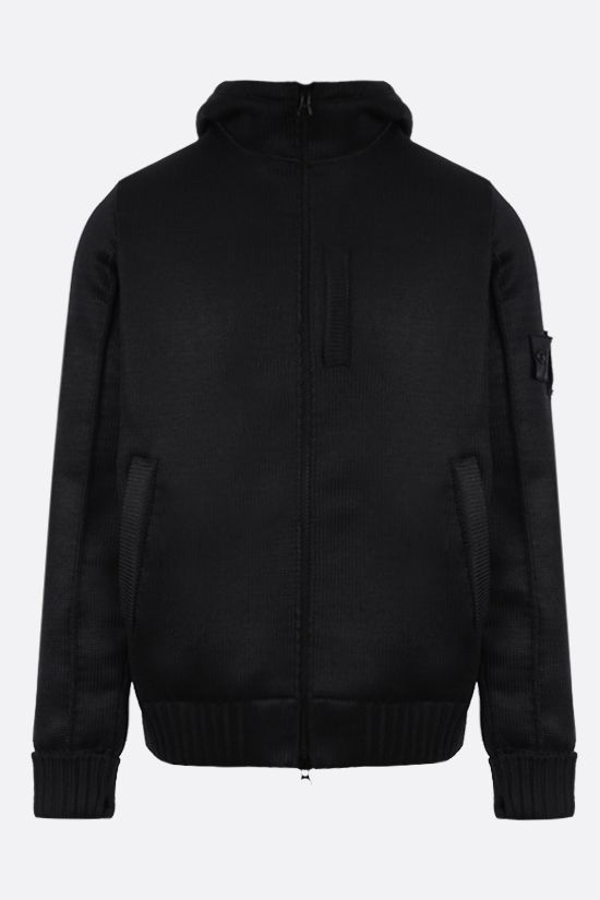 STONE ISLAND SHADOW PROJECT: logo badge-detailed technical knit jacket Color Black_1