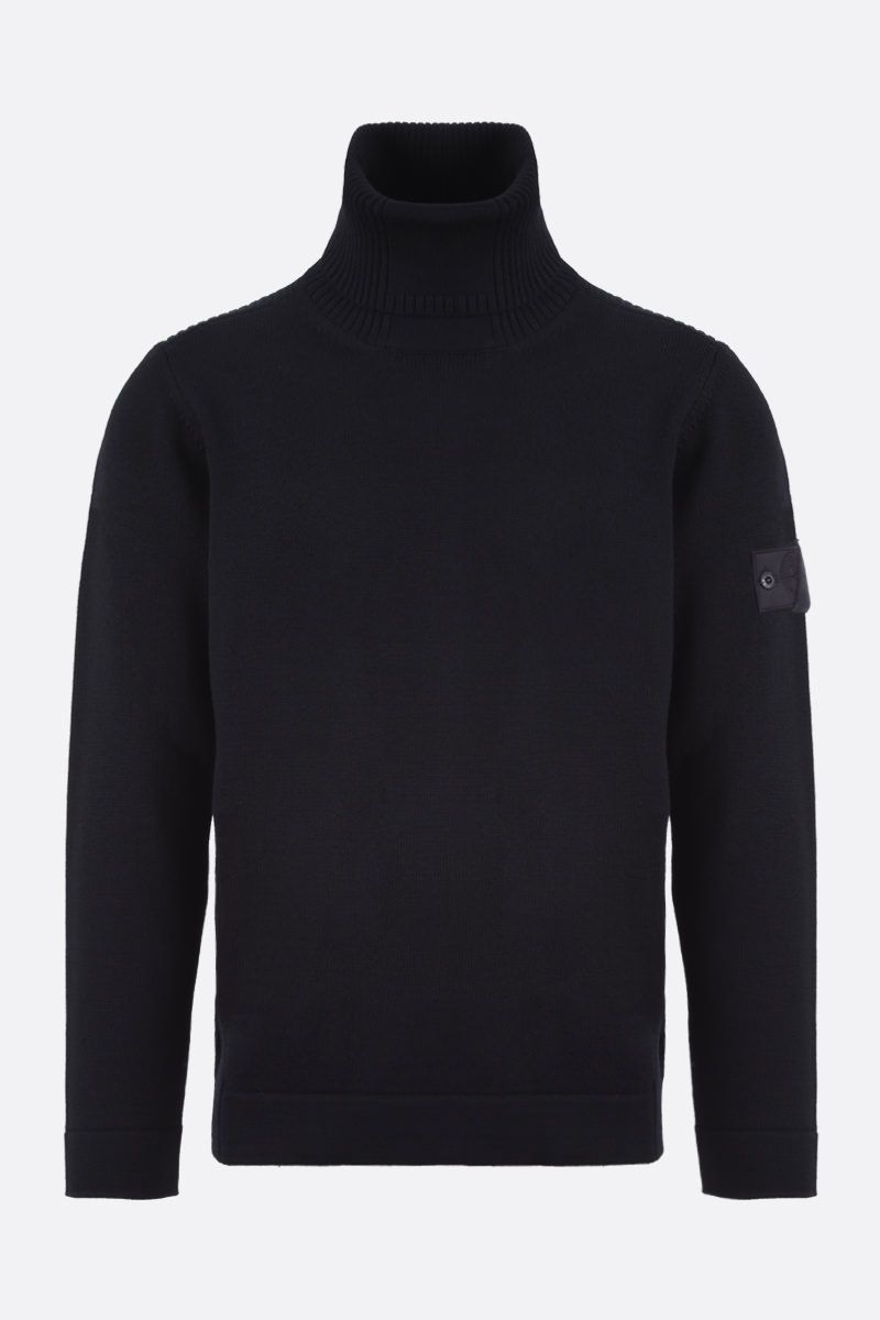 STONE ISLAND SHADOW PROJECT: logo badge-detailed wool pullover Color Black_1