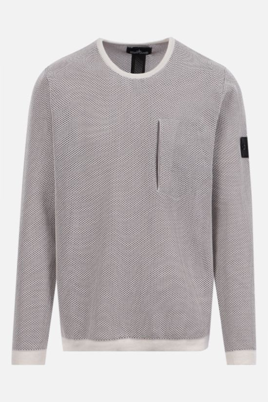 STONE ISLAND SHADOW PROJECT: double layer mesh pullover Color Neutral_1