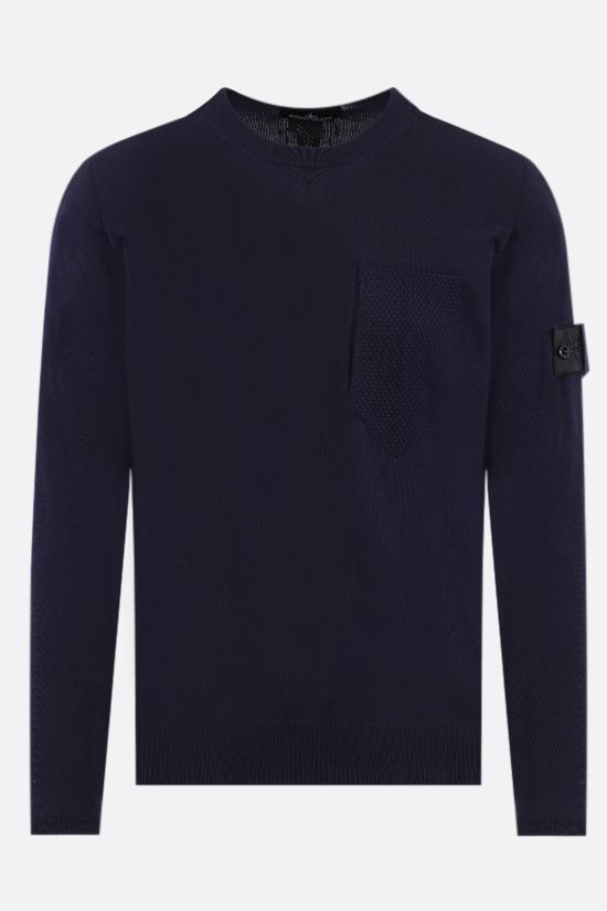 STONE ISLAND SHADOW PROJECT: logo badge-detailed silk cotton blend pullover Color Black_1