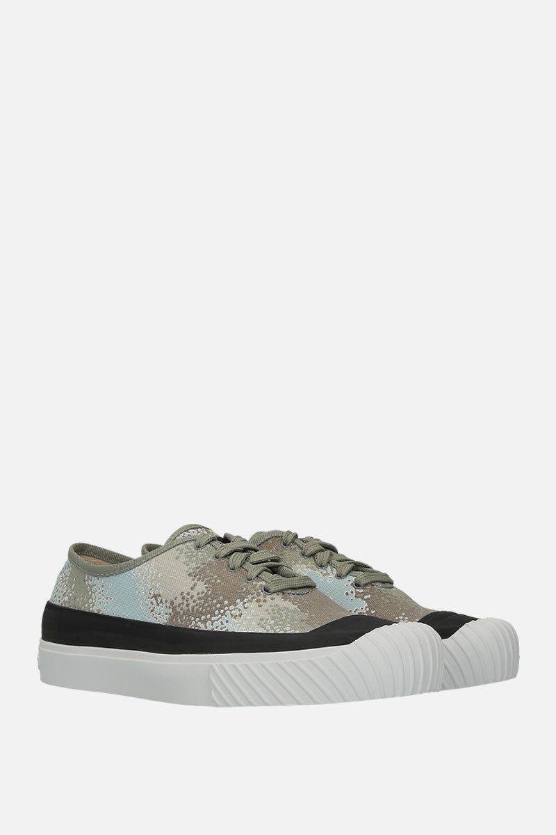STONE ISLAND: sneaker low-top in canvas stampa grafica_2