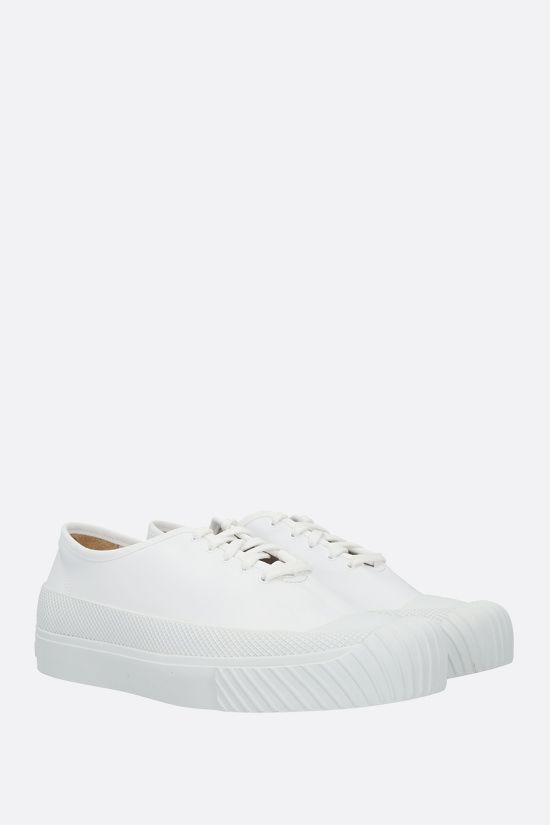 STONE ISLAND: smooth leather low-top sneakers Color White_2