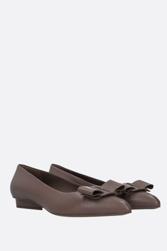 SALVATORE FERRAGAMO: Viva nappa ballerinas Color Brown_2