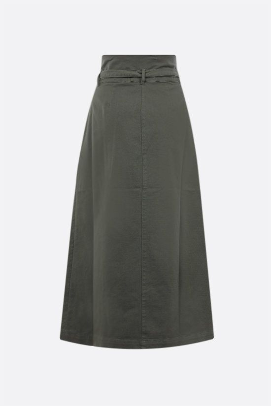 FEDERICA TOSI: stretch denim wrap skirt Color Green_2