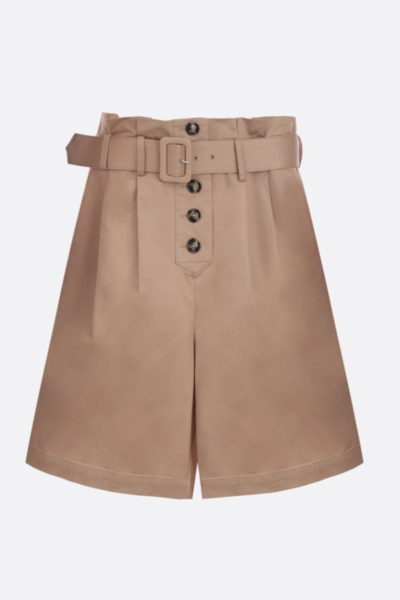 SELF PORTRAIT: cotton darted shorts Color Neutral_1