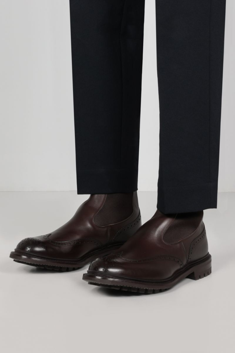 TRICKER'S: Henry smooth leather chelsea boots Color Brown_2