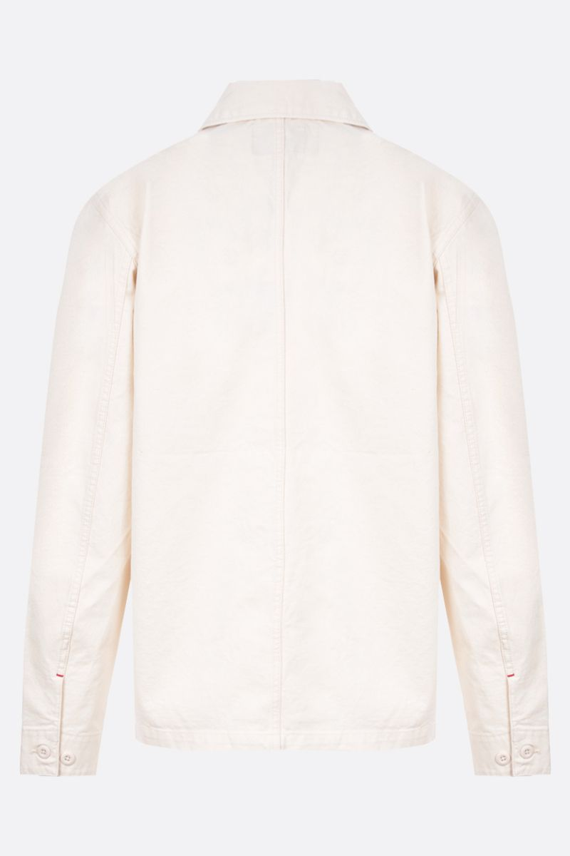 CARHARTT WIP: giacca-camicia Wesley in drill Colore Neutro_2