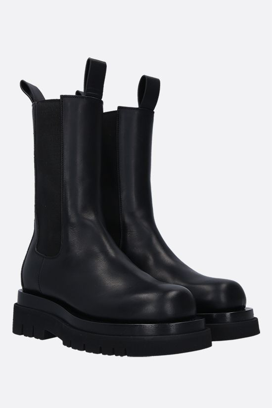 BOTTEGA VENETA: Storm leather biker boots Color Black_2