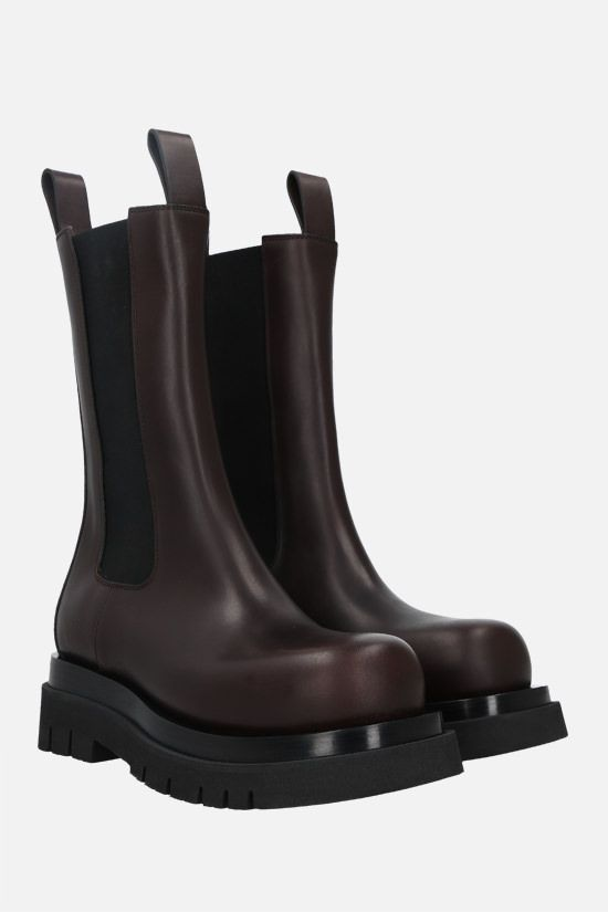BOTTEGA VENETA: Lug Storm leather biker boots Color Brown_2