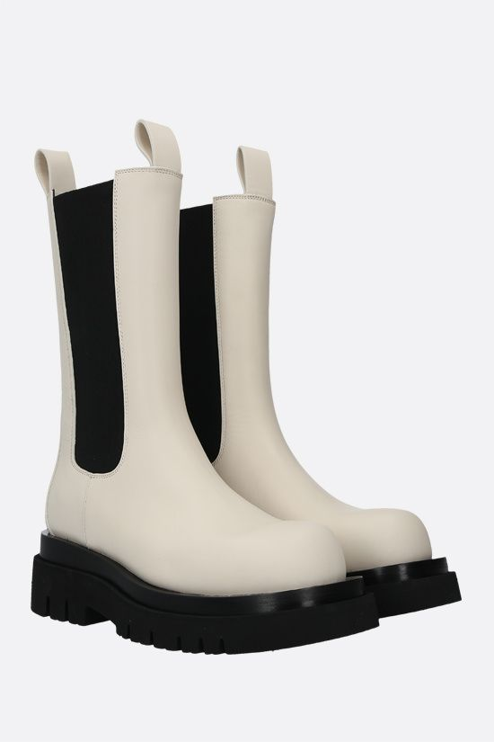 BOTTEGA VENETA: Storm leather biker boots Color Neutral_2