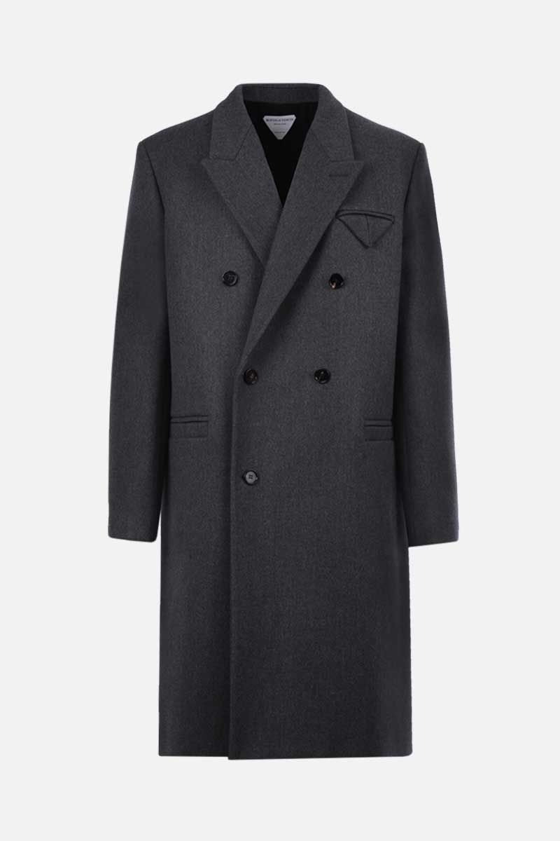 BOTTEGA VENETA: wool twill double-breasted coat Color Grey_1