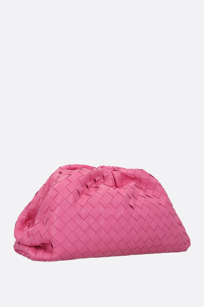 BOTTEGA VENETA: The Chain clutch in Intrecciato VN Color Pink_2