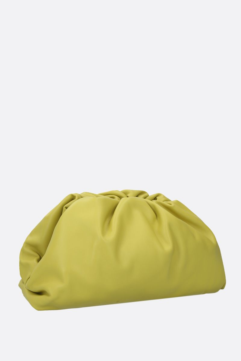 BOTTEGA VENETA: The Pouch smooth leather clutch Color Green_2
