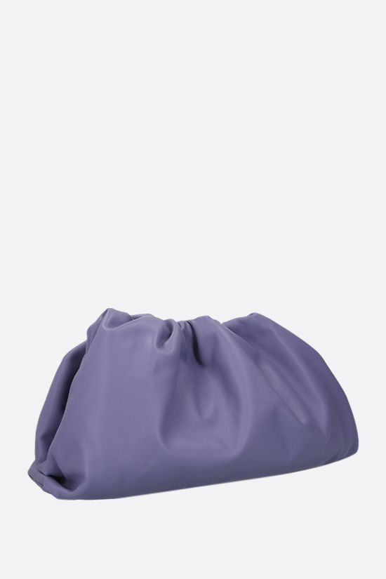 BOTTEGA VENETA: The Pouch smooth leather clutch Color Purple_2