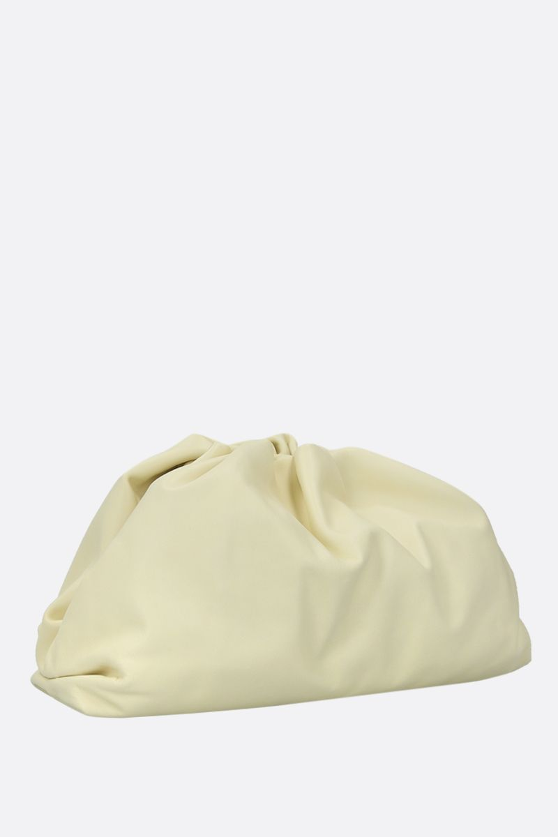 BOTTEGA VENETA: The Pouch smooth leather clutch Color Yellow_2