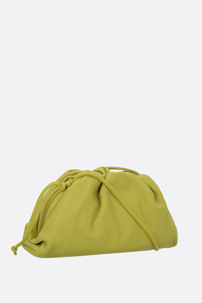 BOTTEGA VENETA: The Pouch 20 smooth leather clutch Color Green_2
