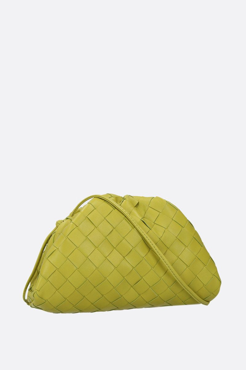 BOTTEGA VENETA: The Pouch 20 clutch in Intrecciato nappa Color Green_2
