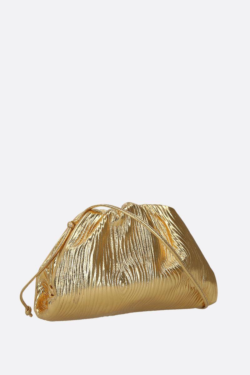 BOTTEGA VENETA: clutch The Pouch 20 in pelle laminata Colore Oro_2