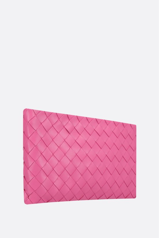 BOTTEGA VENETA: Intrecciato nappa medium pouch Color Pink_2