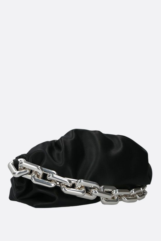 BOTTEGA VENETA: The Chain Pouch smooth leather clutch Color Black_2