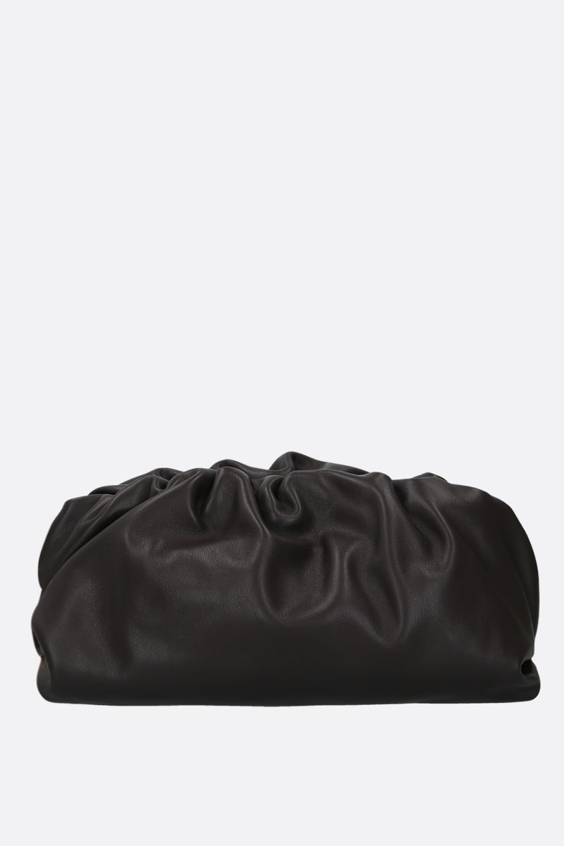 BOTTEGA VENETA: The Chain Pouch smooth leather clutch Color Brown_3