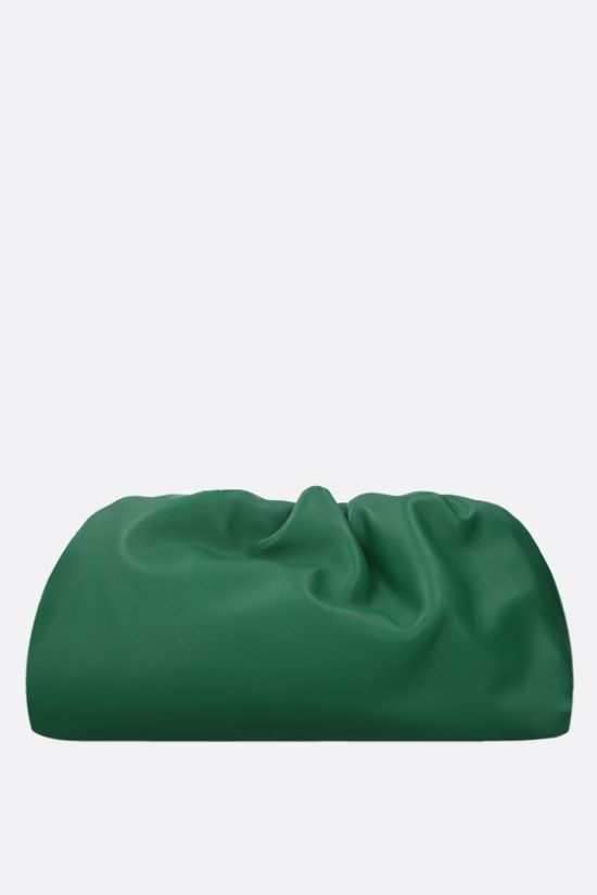 BOTTEGA VENETA: The Chain Pouch smooth leather clutch Color Green_4