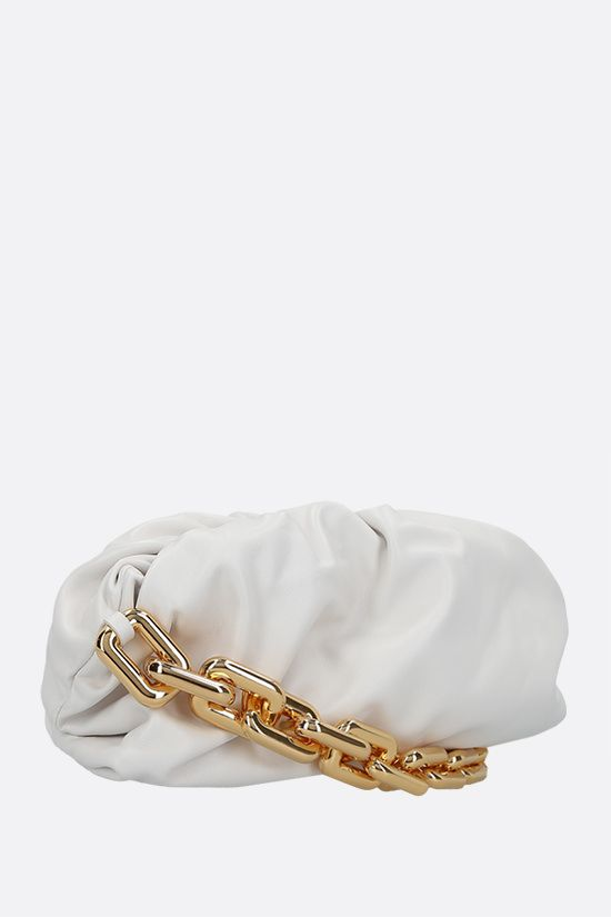 BOTTEGA VENETA: The Chain Pouch smooth leather clutch Color Neutral_2
