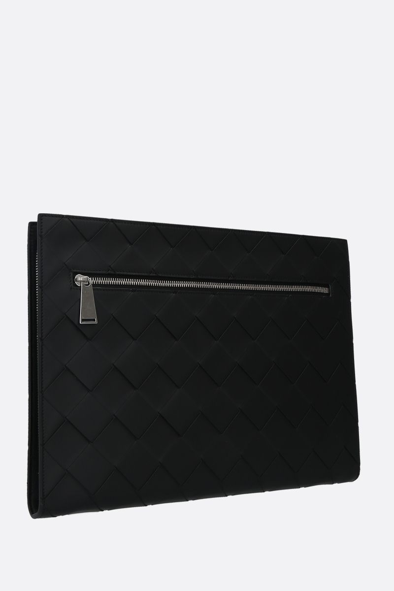 BOTTEGA VENETA: porta documenti zip-around in Intrecciato VN Colore Nero_2