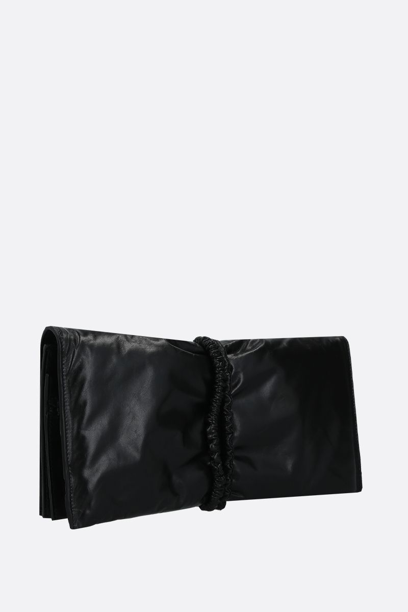 BOTTEGA VENETA: Paper Calf clutch Color Black_2