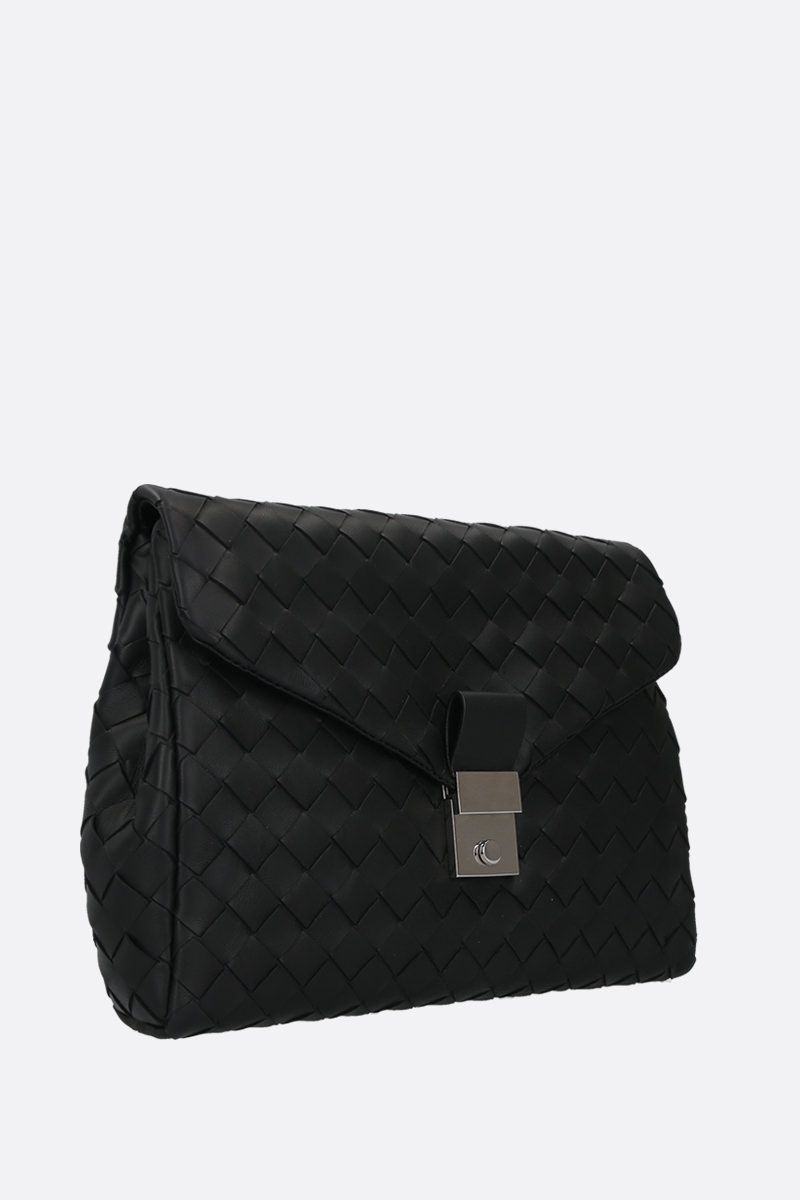 BOTTEGA VENETA: porta documenti small in Intrecciato nappa Colore Nero_2